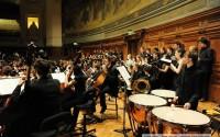 Crédit : Olivier Jacquet/université Paris-Sorbonne Photo : Brahms dans le grand amphithéâtre de la Sorbonne  le 11 décembre.