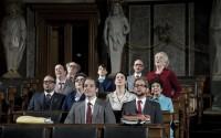Légende photo : Christoph Marthaler questionne l'état de la démocratie en Europe. Crédit photo : Walter Mair