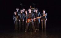 Crédit photo: Michel Froment Légende photo : Les Blérots de R.A.V.E.L. et la Compagnie Vilcanota inventent une forme de spectacle mêlant musiciens et danseurs.
