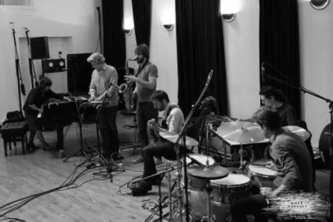 L'ONJ en répétition dans les studios de La Muse. © La Muse en circuit