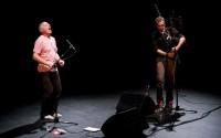 Ametsa, ou le duo antre la cornemuse bretonne d'Erwan Keravec et le chant basque de Beñat Achary. © Eric Legret
