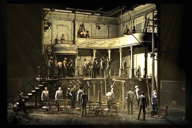 Légende : Projet de maquette pour Il Trovatore mis en scène par Richard Brunel. DR