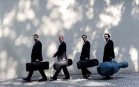 Légende : Le Quatuor Zemlinsky ouvre la « Nuit du quatuor » à l'Orangerie, dans le cadre de la « Nuit blanche ». © Tomáš Bican