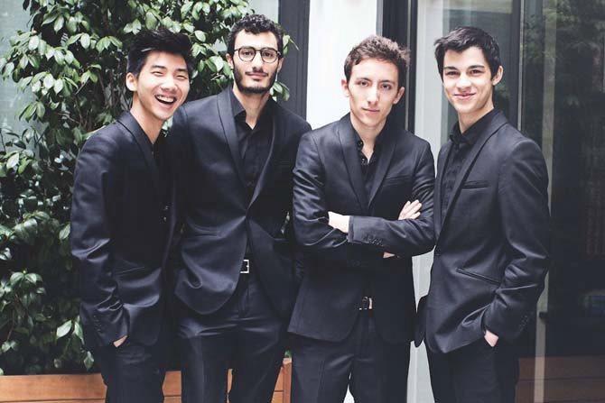 Légende : Le Quatuor Arod, en résidence à ProQuartet. © Verena Chen