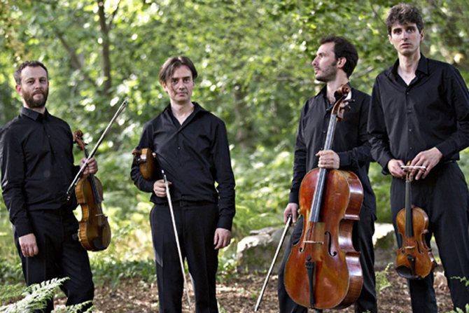 Légende : Le Quatuor Béla créera White Face de Philippe Leroux à la Philharmonie de Paris. DR
