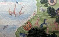 Cartographie aventurière pour Le Voyage de Cornélius. Crédit photo : Guillaume Le Testu (1556)