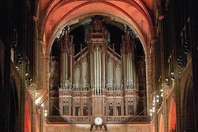 Les grandes orgues de la Basilique, prêtes à résonner sous les doigts de Pierre Pincemaille. © DR