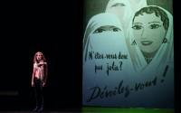 Ce qui nous regarde, de Myriam Marzouki, création 2016 de Théâtre en mai. Crédit photo : Vincent Arbelet