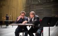 Le metteur en scène Jorge Lavelli et le compositeur Martin Matalon. ©Laurent Guizard