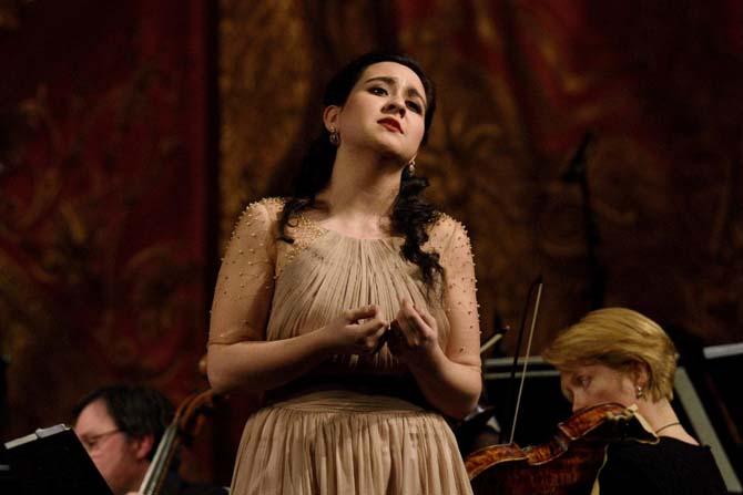 La soprane Adriana Gonzalez à l'Académie de l'Opéra de Paris. © DR