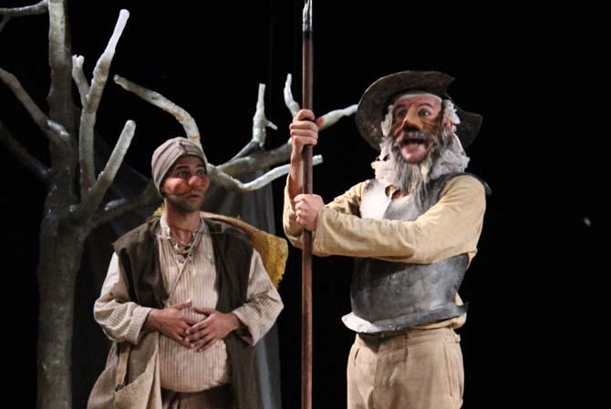Quixote et Sancho, deux amis indéfectibles.