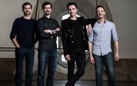 Crédit : Julien Benhamou / ONP Légende : Sébastien Bertaud, Simon Valastro, Bruno Bouché, Nicolas Paul.