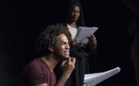 Crédit : Christophe Raynaud de Lage Légende : Convulsions, photo prise lors d'une lecture réalisée à Théâtre Ouvert.