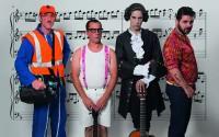 Légende : Guy Rebreyend, Frédéric Saumagne, Samuel Maingaud et Michel Oberli, tous quatre saxophonistes des Désaxés. Crédit D.R.