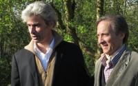 Les comédiens Mathieu Barbier et Patrice Dehent, interprètes du Chien. Crédit photo : DR