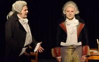 Légende : André Le Hir (Marat), Jean-Vincent Brisa (Danton) et Jean-Marc Galera (Robespierre) © Lilian Sabatier