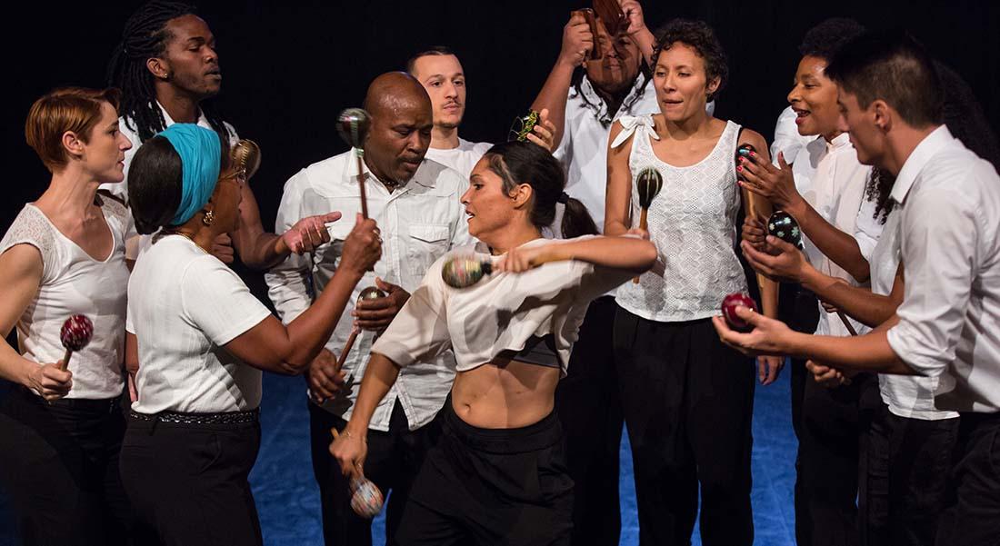 Cercle égal demi-cercle au carré par Chantal Loïal - Critique sortie Danse Suresnes Théâtre de Suresnes Jean Vilar