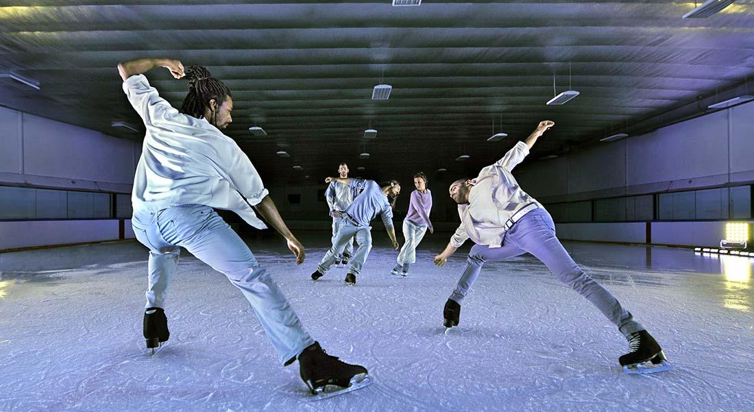 « Threshold » avec les cinq danseurs du Patin Libre - Critique sortie Danse Asnières-sur-Seine Patinoire d'Asnières-sur-Seine