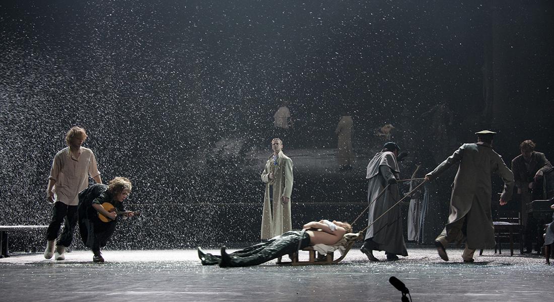 Eugène Onéguine du Théâtre Vakhtangov, mis en scène de Rimas Tuminas - Critique sortie Théâtre Paris Théâtre Marigny