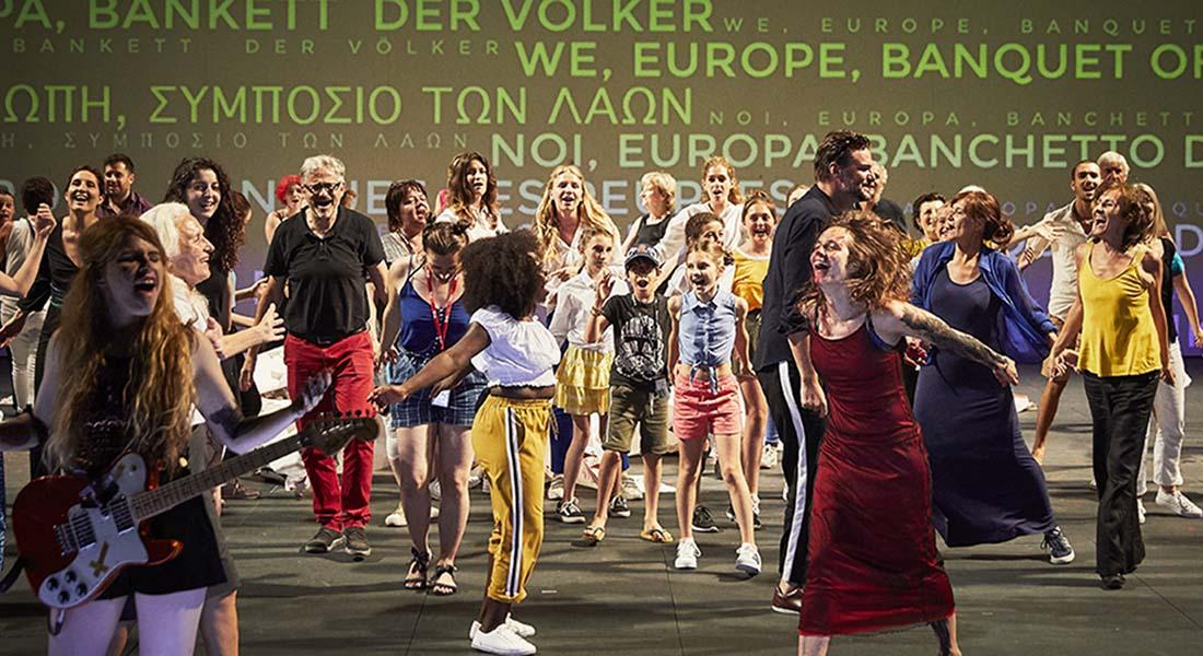 Nous l'Europe, banquet des peuples de Laurent Gaudé, mise en scène Roland Auzet - Critique sortie Théâtre saint denis CDN Théâtre Gérard Philipe