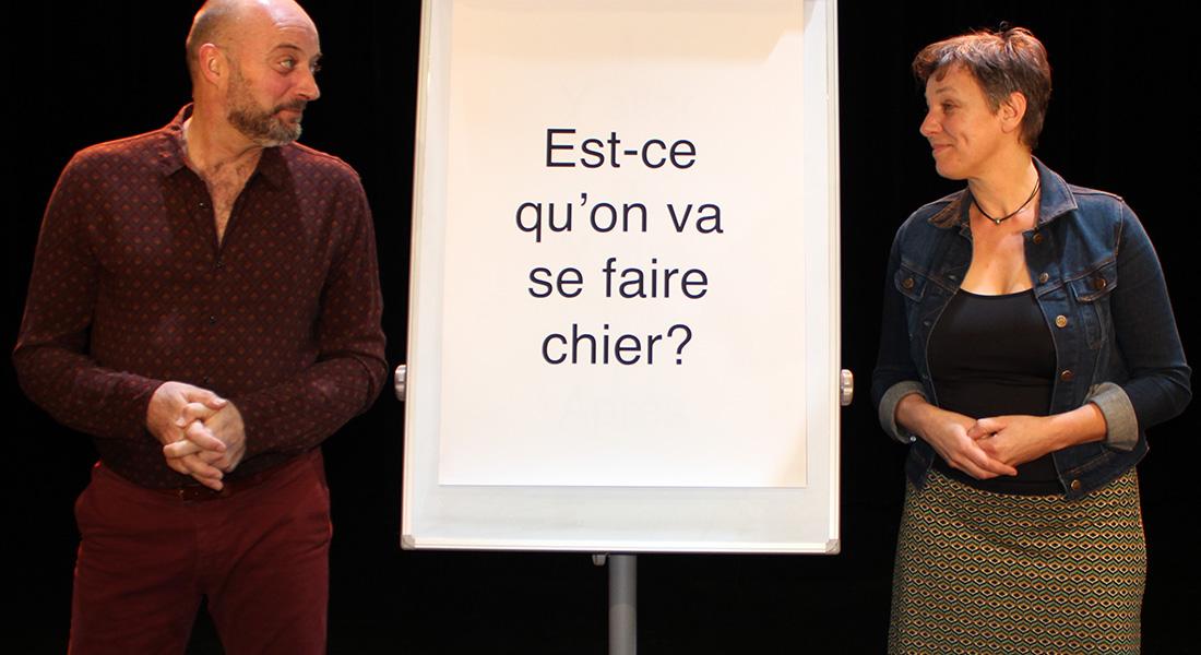 Qu'est-ce que le théâtre ? par Hervé Blutsch et Benoît Lambert - Critique sortie Avignon / 2021 Avignon Avignon Off. Les Pays de la Loire au Nouveau Grenier